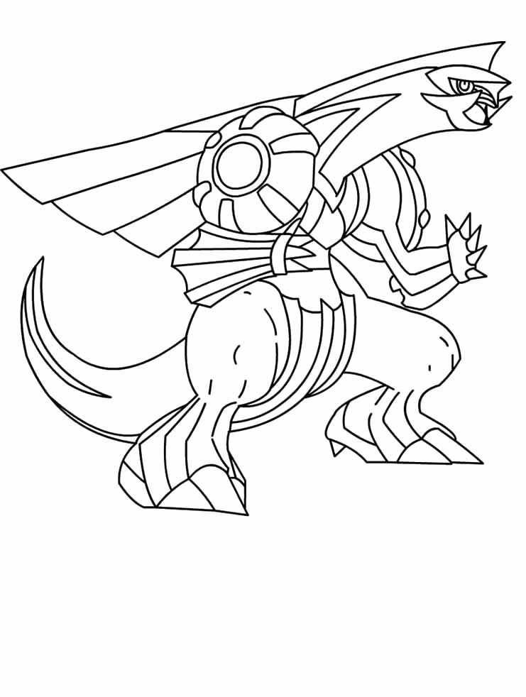 Pokemon Palkia Coloring Pages
