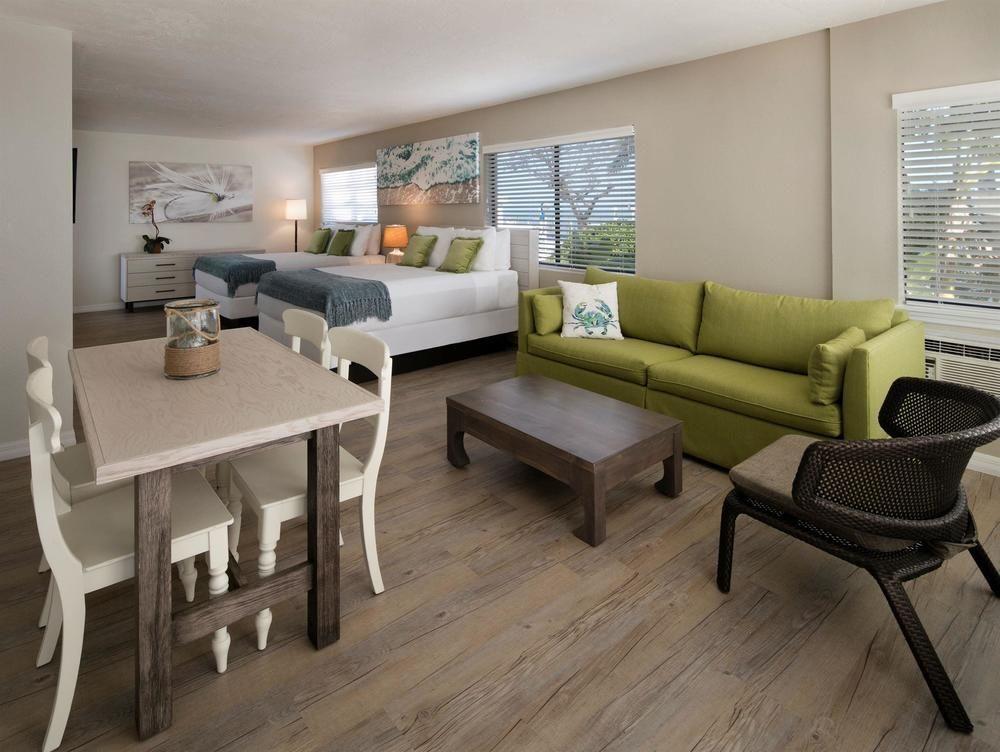 ISLAMORADA   La Siesta Resort  $223 + $25 resort fee   2 queens, sofa, dinette, fridge, micro  Breakfast included