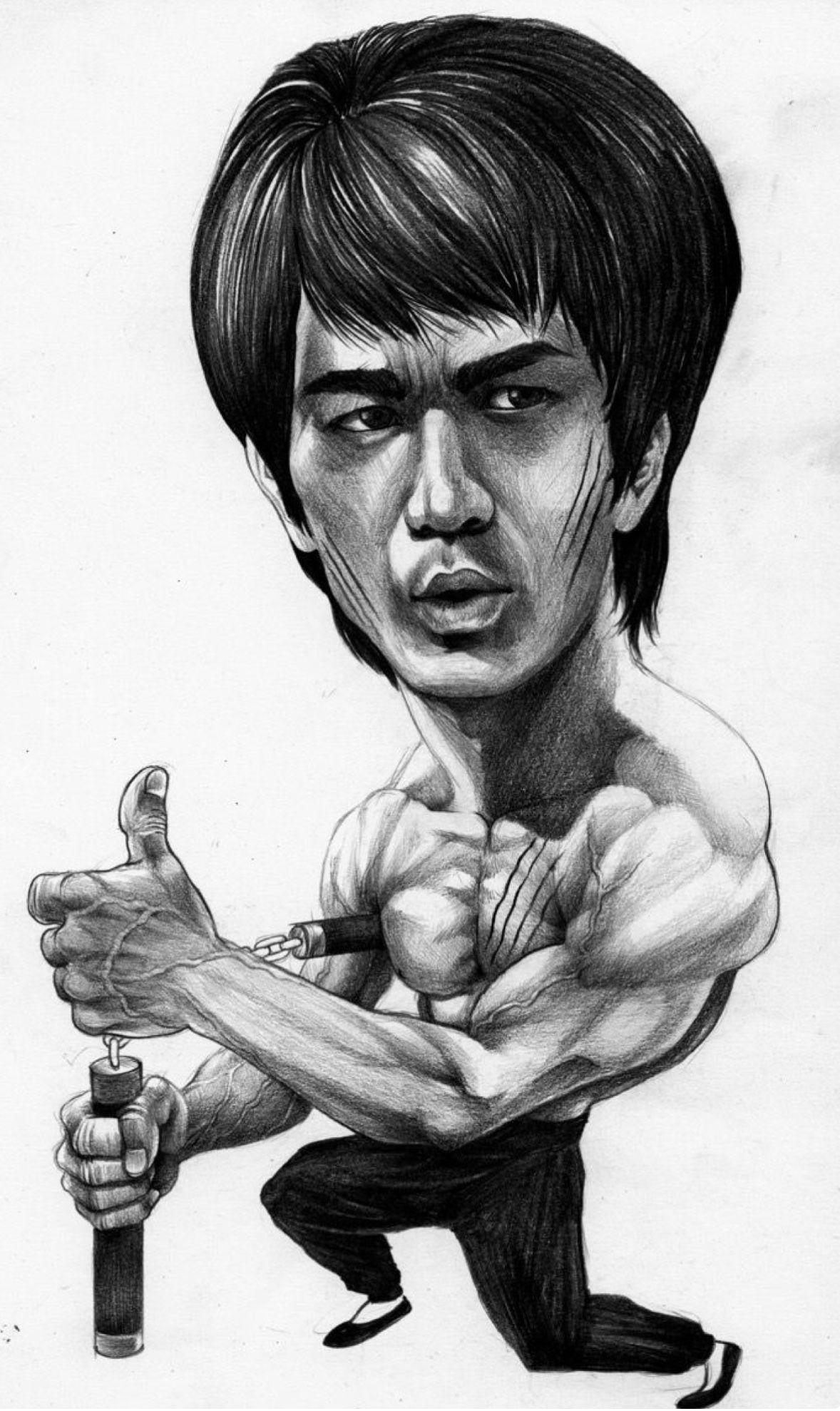 Bruce Lee Bruce Lee Art Caricature Caricature Artist