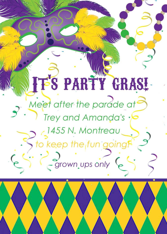 Free Mardi Gras Invitations Templates Mardi Gras Invitations Printable Invitations Mardi Gras Party