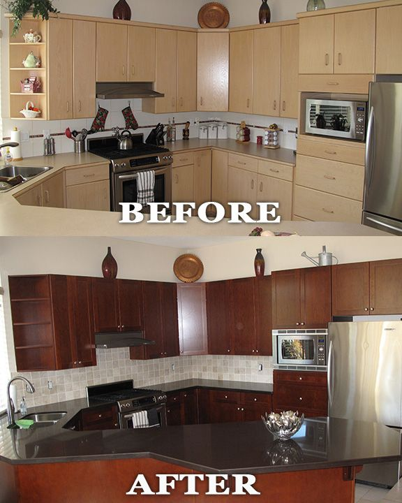 What Is The Cost To Reface Kitchen Cabinets: Kitchen Reface By Kitchen Solvers (Surry, BC). Refacing Is