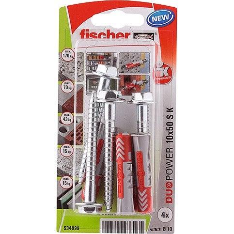 Chevilles Et Tirefonds Fischer Diam10 X L50 Mm Products