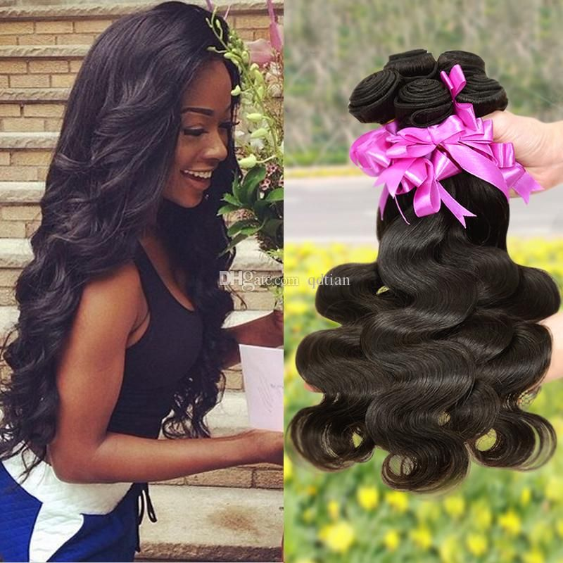 7a Unprocessed Queen Indian Malaysian Peruvian Brazilian Virgin Hair