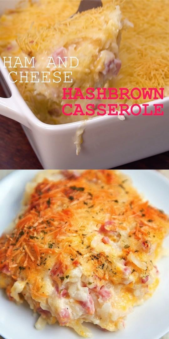 Ham and Cheese Hash Brown Casserole - Plain Chicke