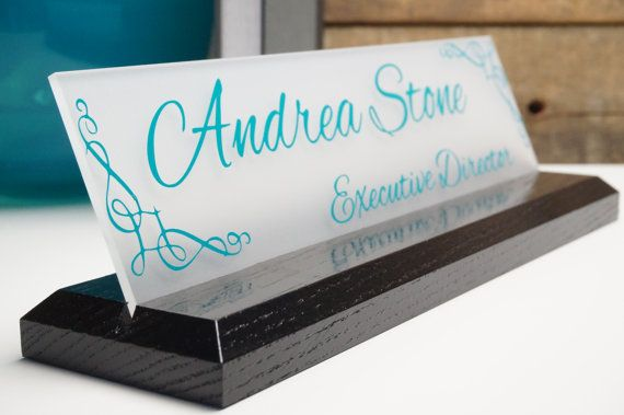 Personalized Desk Name Plate Personalized Employee by GaroSigns, $19.99.