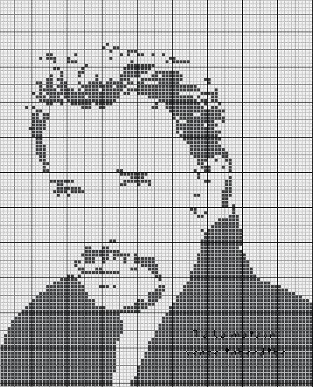 pixel art johnny hallyday