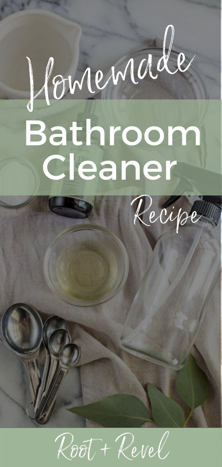 Homemade Bathroom Cleaner Recipe in 2020 Homemade