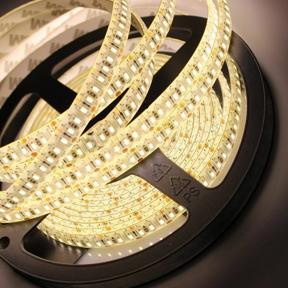 Warm White 5m 16 4ft 600 Led 3528 Smd Flexible Led Light Lamp Strip Dc 12v Diy Flexible Led Light Led Light Strips Strip Lighting