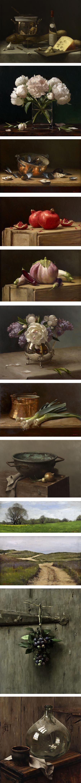Pintura a óleo de Sarah Lamb