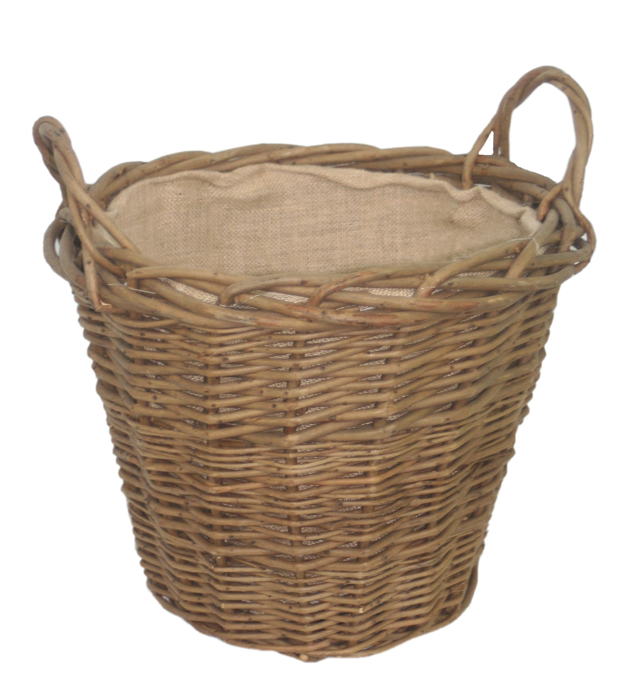 A Handmade, Thick Green Ash Round Log Basket With Handles. A Versatile Log  Baskets That Is Ideal For Use Within The Home, Shed, Garage And More. Nice Design