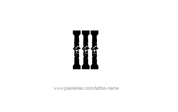 III Roman Numeral Tattoo Design - Page 4 of 4 | Ink | Roman numeral ...