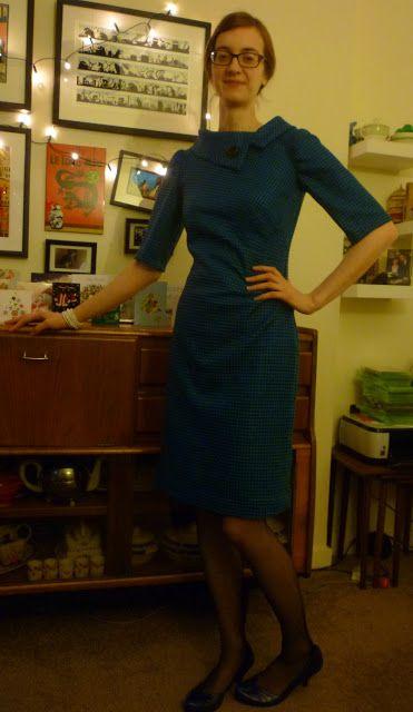Kestrel Makes: Finished: Houndstooth Wool Dress