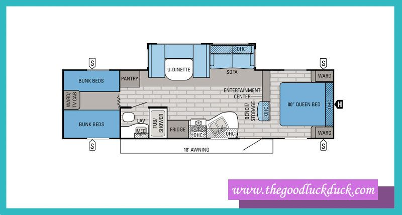 diagram of bunkhouse 25 popular rv layouts ideas  classifications   designs  rv  25 popular rv layouts ideas