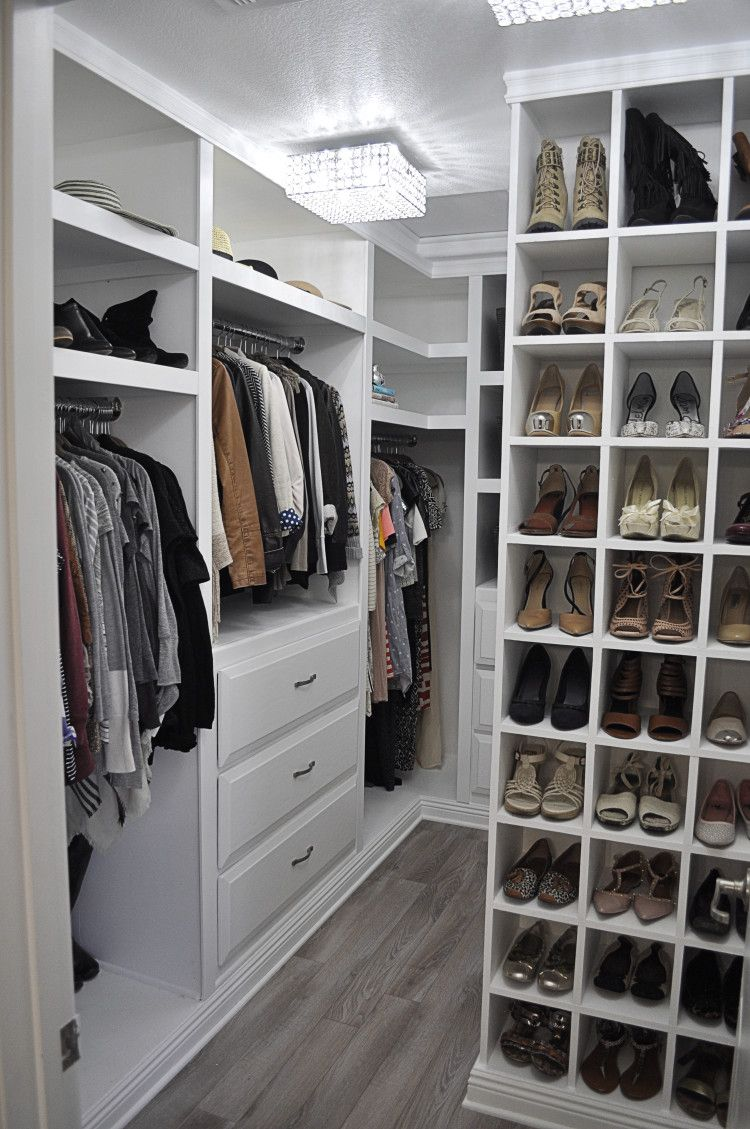 closet makeover | organized spaces | pinterest | walk in closet
