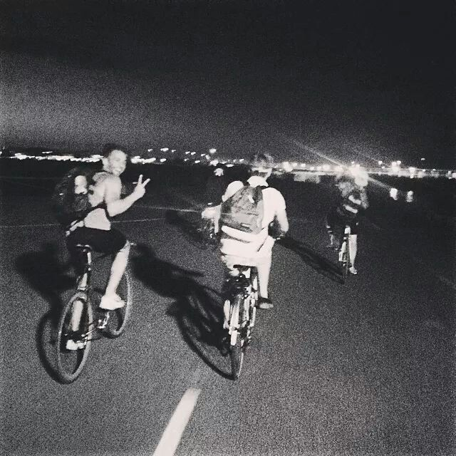 Midnight cycle home