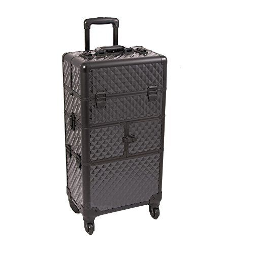 Sunrise Outdoor Travel Black Diamond Trolley Makeup Case - I3464 >>> You can get additional details at the image link from Amzon.com