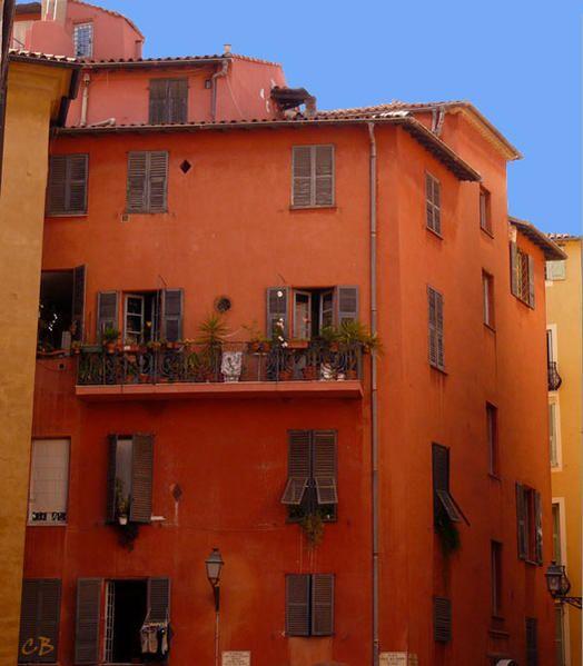 nice maison ocre 50 nuances d 39 orange pinterest nice fa ades et enduit. Black Bedroom Furniture Sets. Home Design Ideas