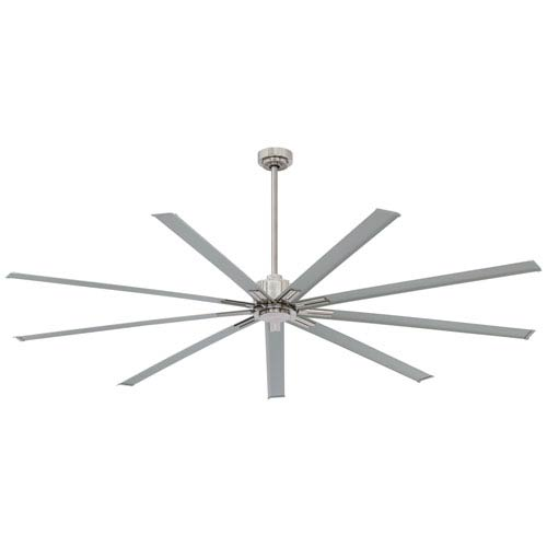 Minka Aire Xtreme Brushed Nickel 96 Inch Ceiling Fan F887 96 Bn In 2020 Ceiling Fan Modern Ceiling Fan Ceiling Fan With Remote