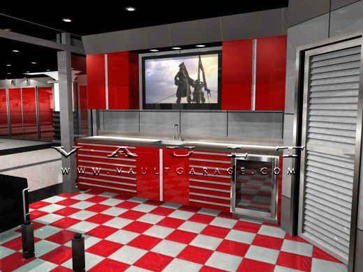 Custom Garage Design And Furnished By Vault Men Cave