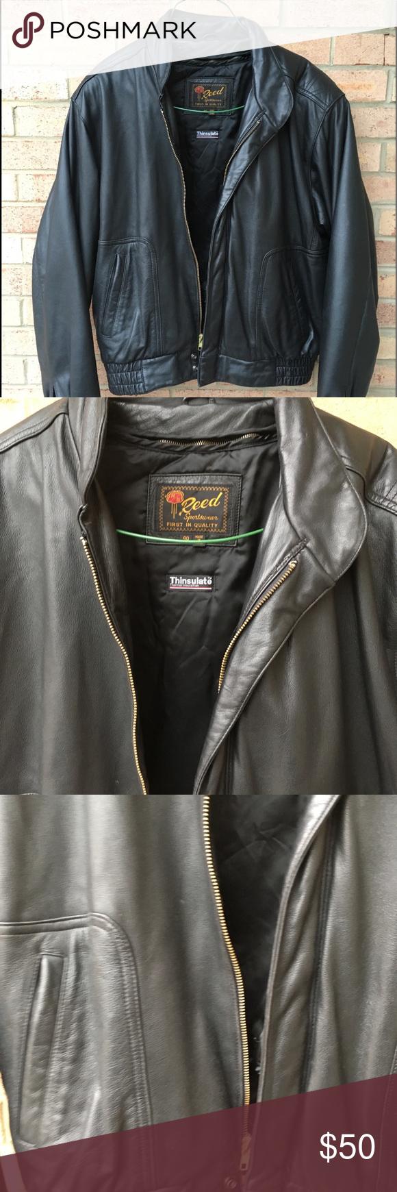 Men S Reed Sportswear Leather Jacket A Gently Used Men S Reed Sportswear Black Leather Jacket Size 40 Thinsulate Removabl Leather Jacket Jackets Sportswear [ 1740 x 580 Pixel ]