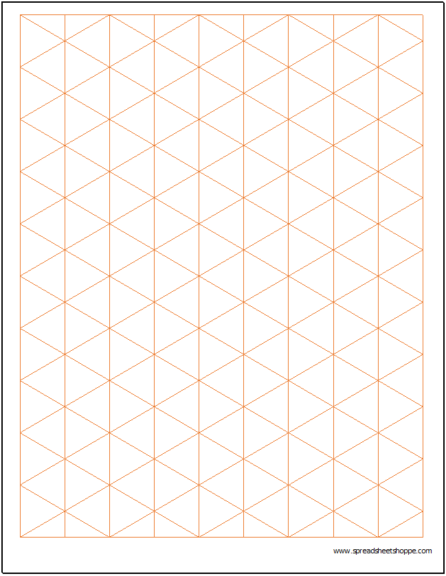 Isometric Graph Paper Template  Charts  Graphs