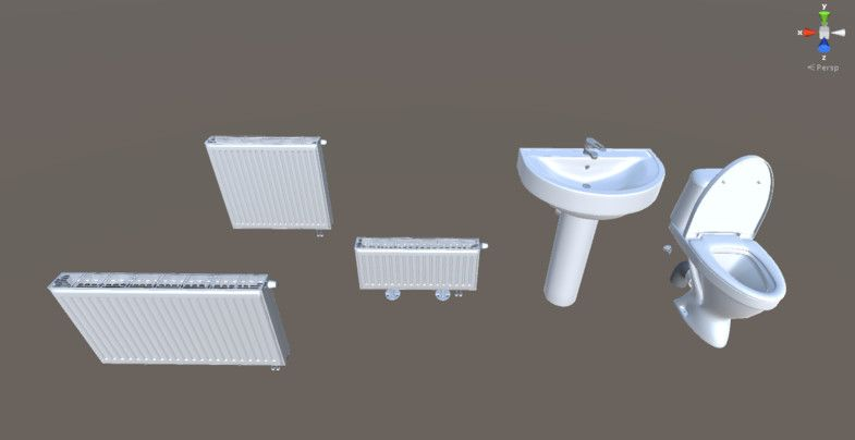 Radiator Voor Toilet : Sink toilet and radiator set radiator toilet sink interior
