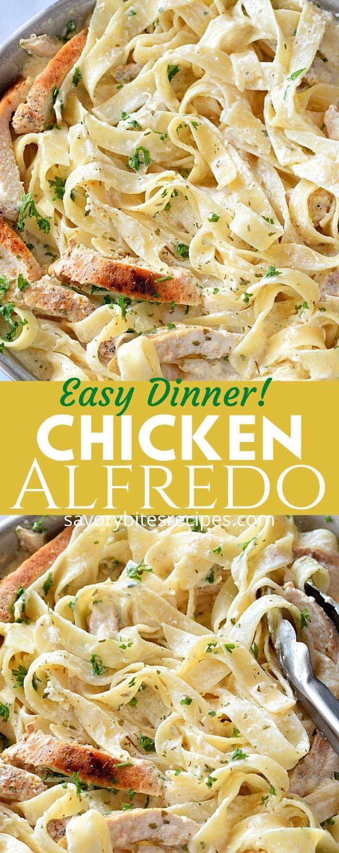 The 30 Minute Easy Chicken Alfredo Recipe Simple Chicken Alfredo Recipe Chicken Alfredo Recipes Chicken Alfredo Easy