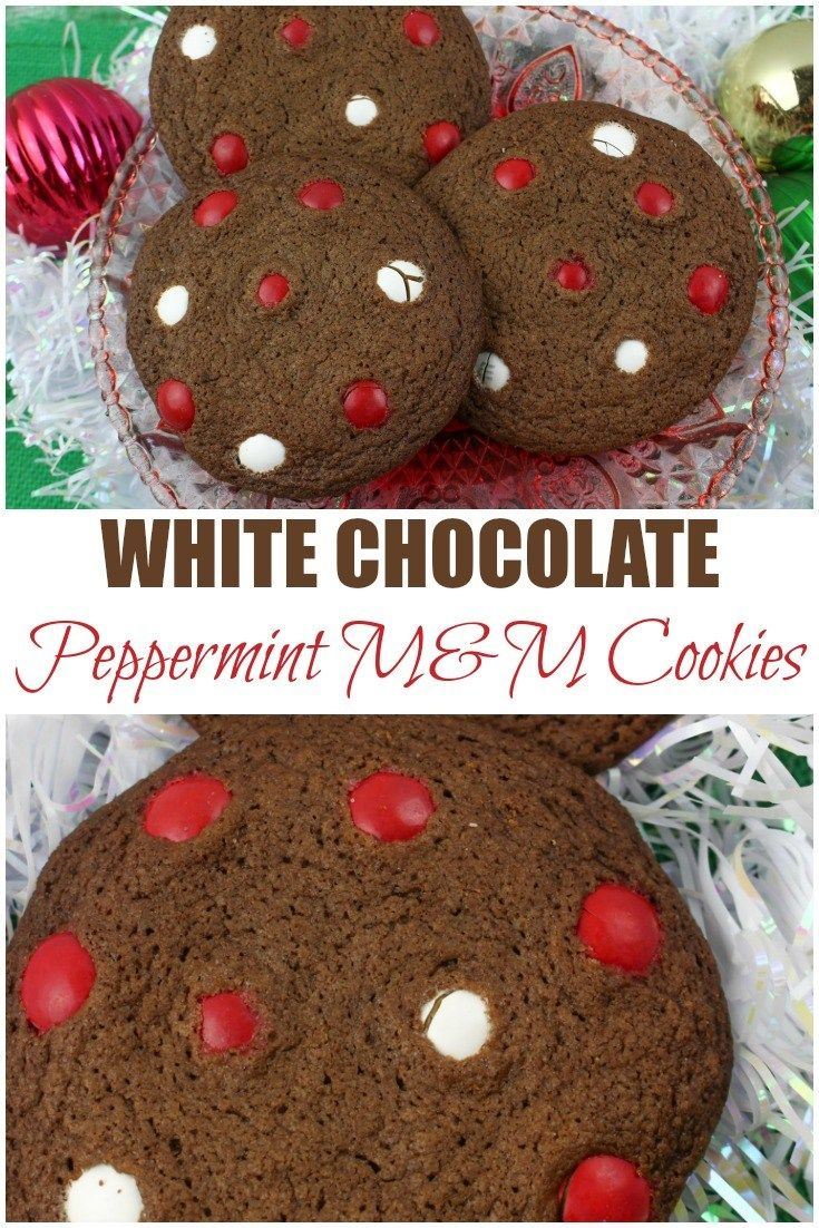 White Chocolate Peppermint M M Cookies