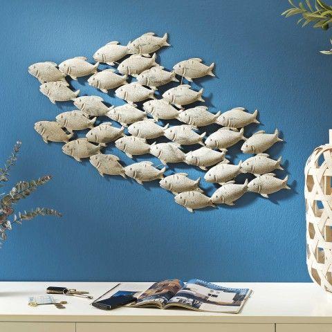 Wanddeko 97 X 53 Cm Fischschwarm Von Boltze In Creme Aus Eisen Online  Kaufen.✓ Einfache Bestellung ✓ Top Service ✓ Garantierte Sicherheit.