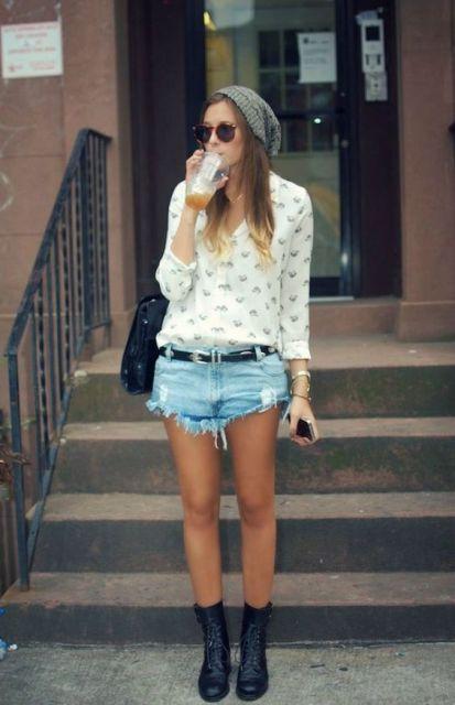 boina feminina verão com shorts  db1d7a4e561