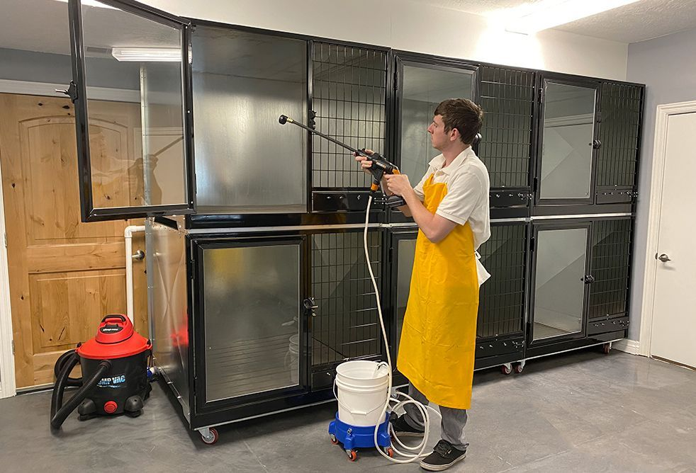 Double Stack Quick N Clean Kennel (Triple Unit) in 2020