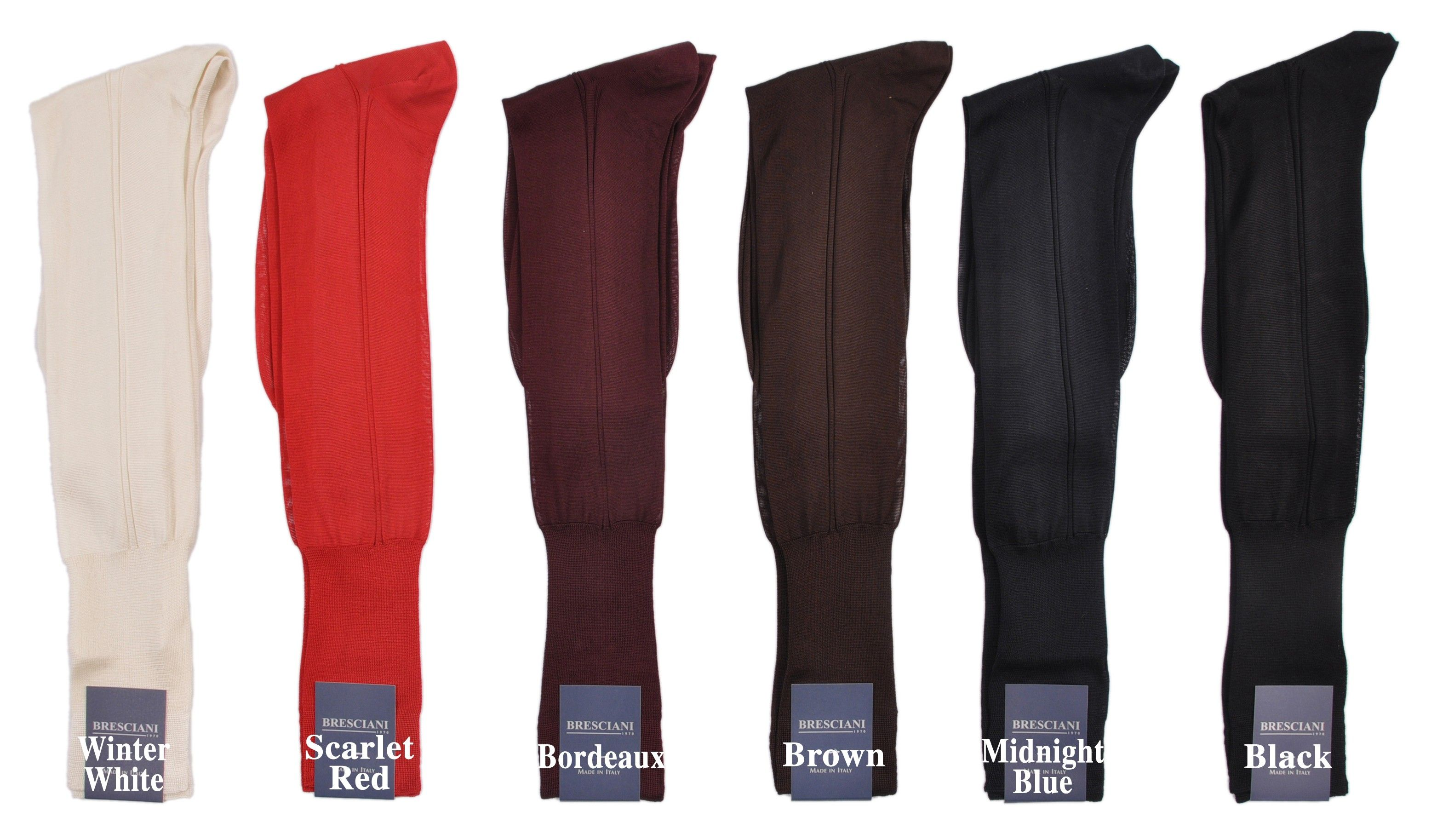6fb715c078a65 Stunning Pure Silk Formal or Dress Over-the-Calf Socks by Bresciani 1970:  The World's Finest Socks