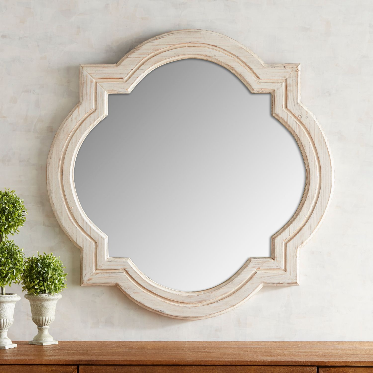 Whitewashed Quatrefoil Mirror Pier 1 Imports Antique Gold Mirror Mirror Mirror Wall Art