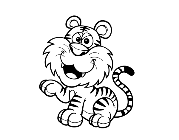 Dibujos De Caras De Tigres Para Colorear: Dibujo De Tigre De Bengala Para Colorear