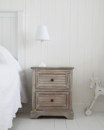 Richmond limed wooden bedside table. Range of bedroomfurniture ...