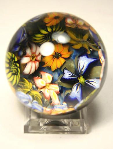 Kevin O'Grady Flower Grotto Paperweight Marble