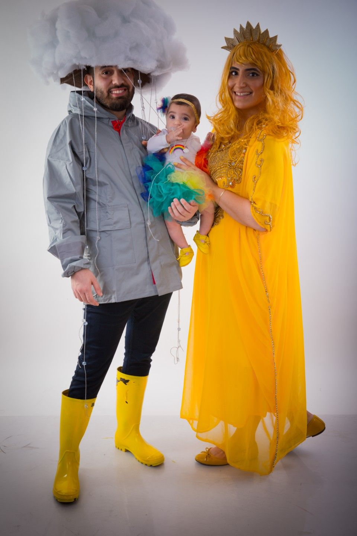 rain, sun and rainbow) familycostume rain sun