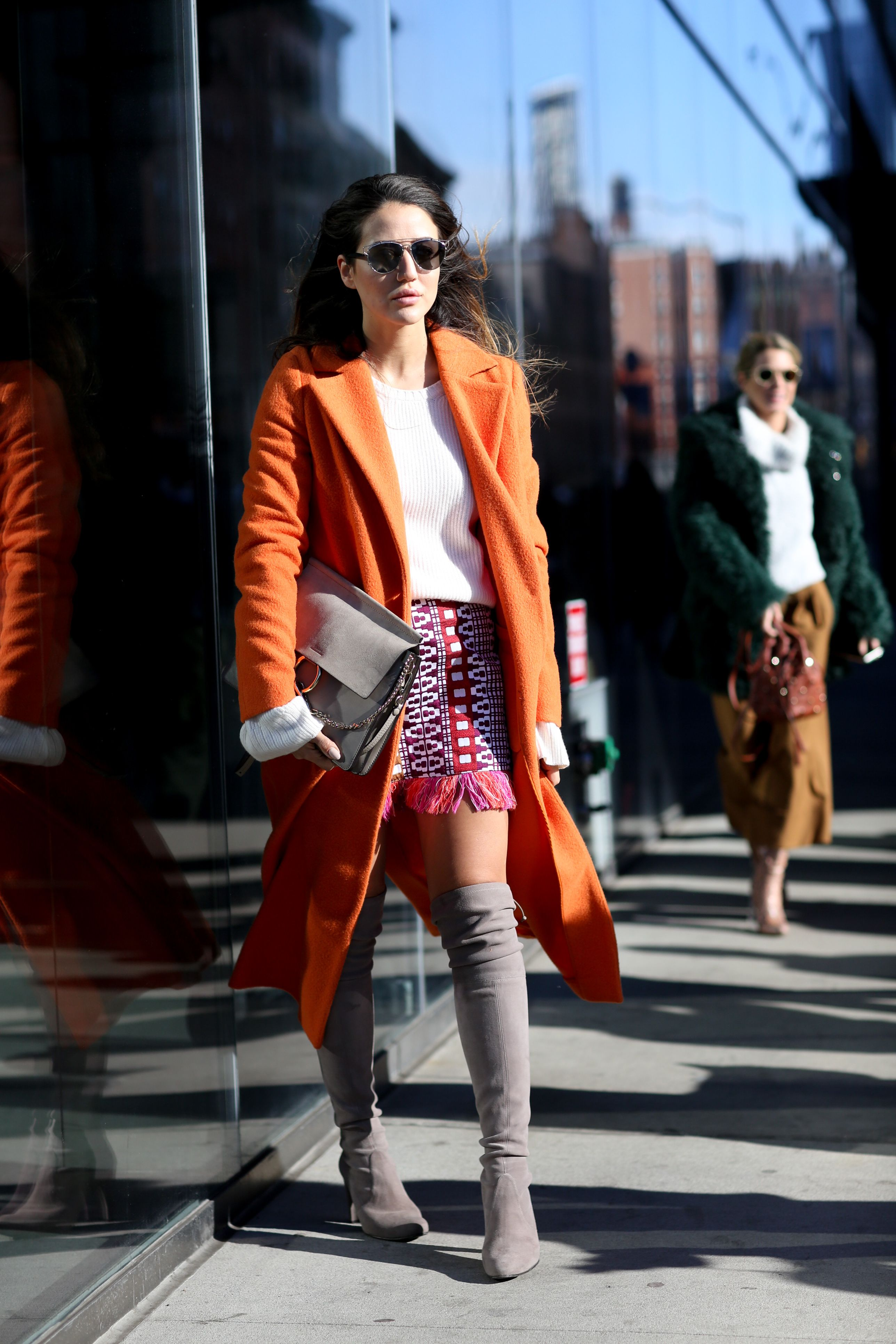 Tamara Kalinic in a PINKO total look from Spring Summer 2016 collection  during New York Fashion Week for My PINKO Experience - February 2016 d013e092275