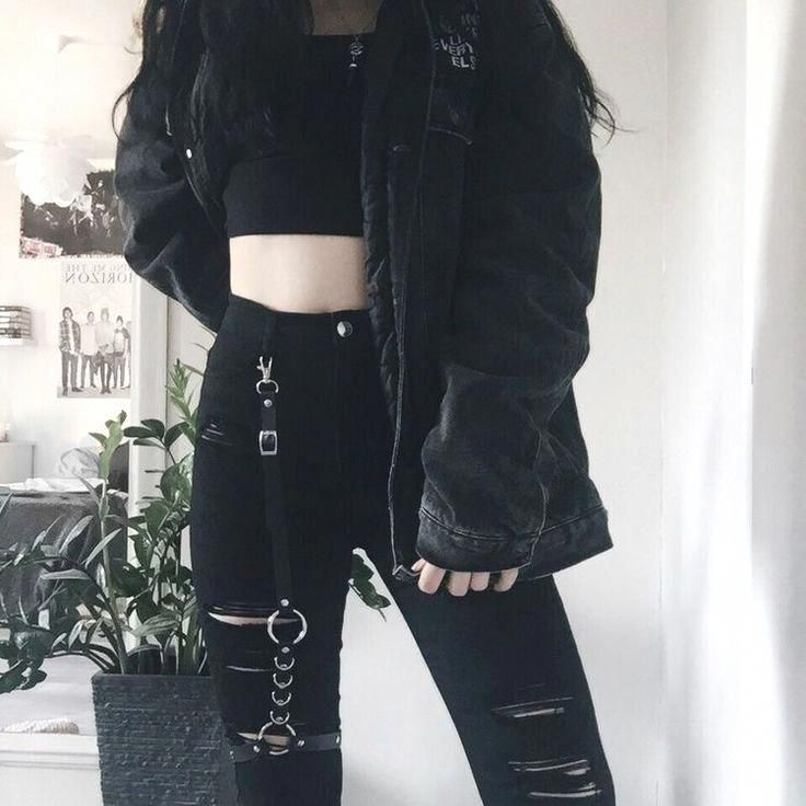 High Waisted Punk Cargo Pants | Aesthetic clothes, Cargo
