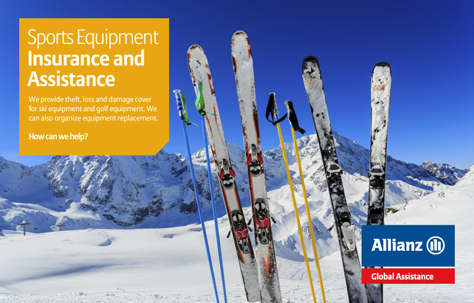 We provide theft, loss and damage cover for ski equipment