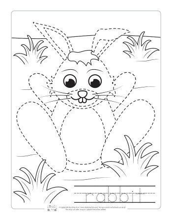 Farm Animals Tracing Coloring Pages (With images ...