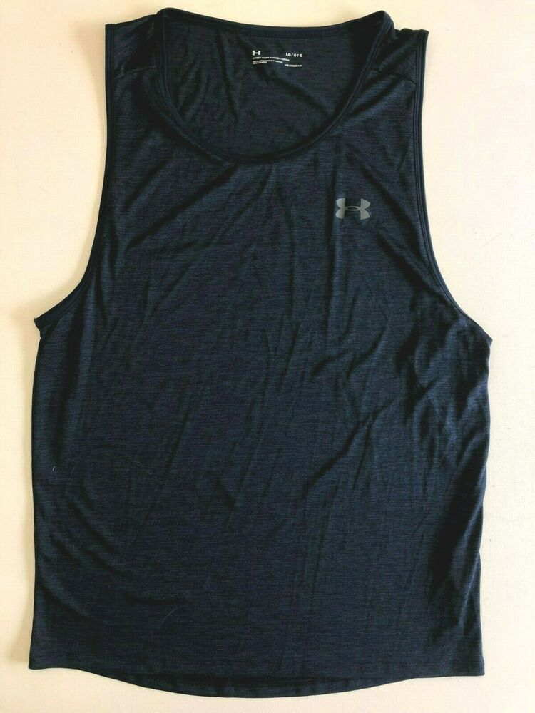 New Balance Men/'s Reversible Tanks Navy Work Out Apparel NEW