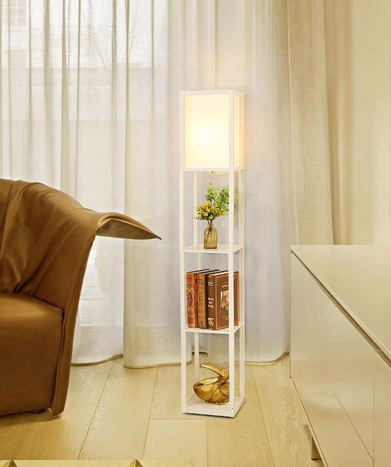 2 In 1 Floor Lamps With Shelves For