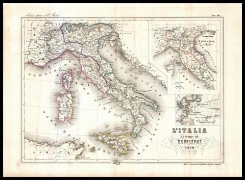 Cartina Italia 1810.L Italia Al Tempo Di Napoleone 1810 Mappe Antiche Mappa Dell Italia Carte Geografiche