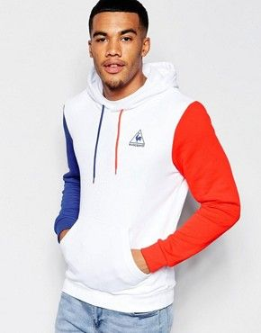 le coq sportif sweat capuche blanc 1610067 bleu blanc rouge sweat capuche blanc le. Black Bedroom Furniture Sets. Home Design Ideas