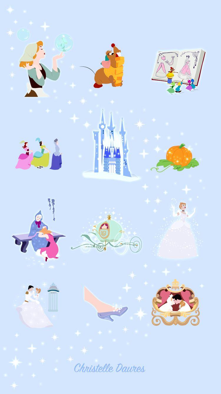 Cendrillon – fond d'écrans Disney – Crecre - Cinderella - disney - wallpaper - iphone - ipad