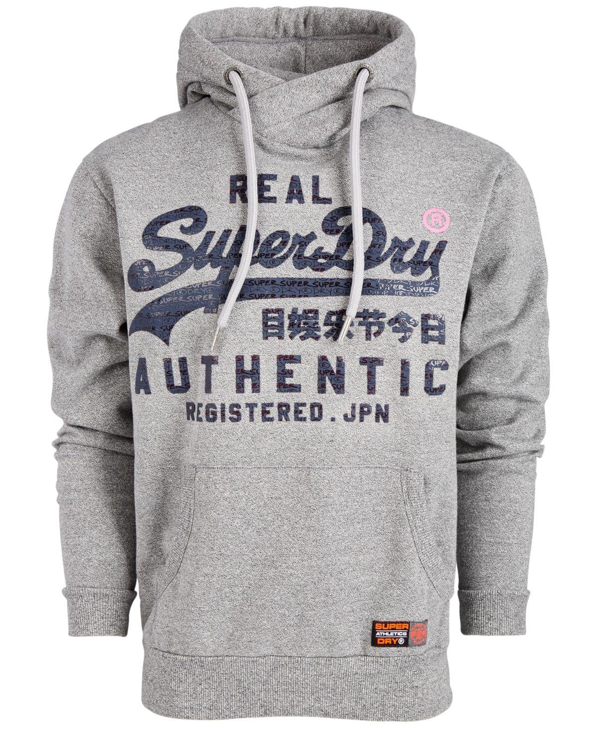 Superdry Men's Reactive Logo Hoodie Phoenix Grey Grit in