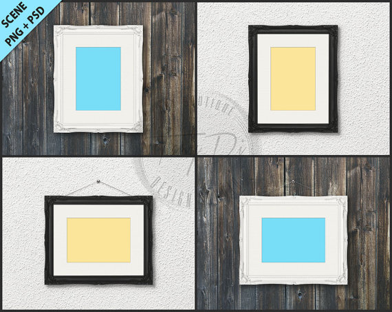 Ornate Frame Mockup 4 Styled scene 5x7 Empty by TanyDiArtDesign ...