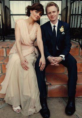 Emily Deschanel And David Hornsby Celebrity Bride Celebrity