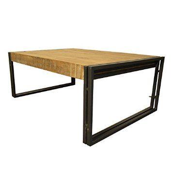250u20ac Couchtisch 110x70 BLACKBIRD Design Wohnzimmertisch Massivholz Metall  Design Sofatisch Loungetisch